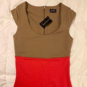 Bardot Colorblock Party Dress